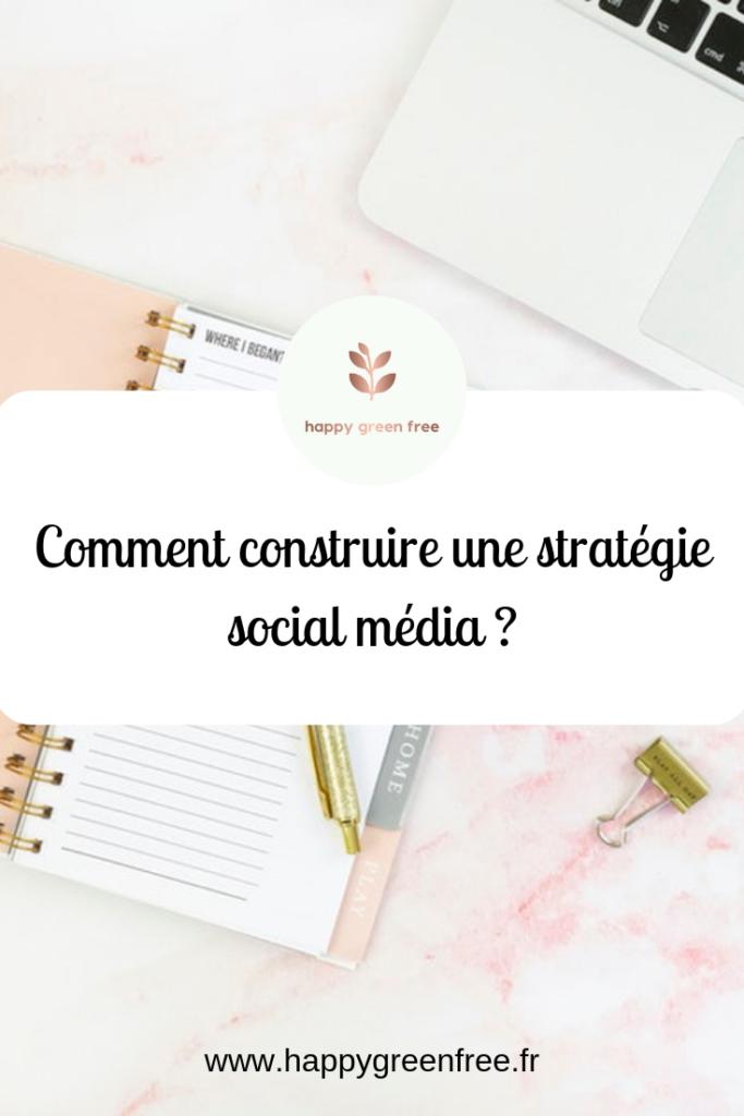 Comment construire une stratégie social média - Happy green free, le blog des community manager freelance