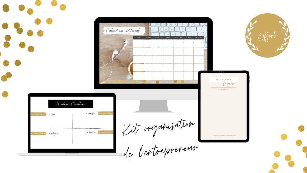 Kit organisation de l'entrepreneur