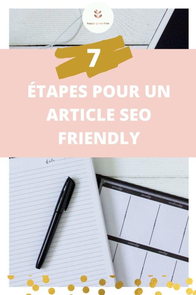 7 étapes pour un article SEO friendly