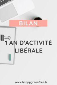 Bilan 1 an d'activité libérale