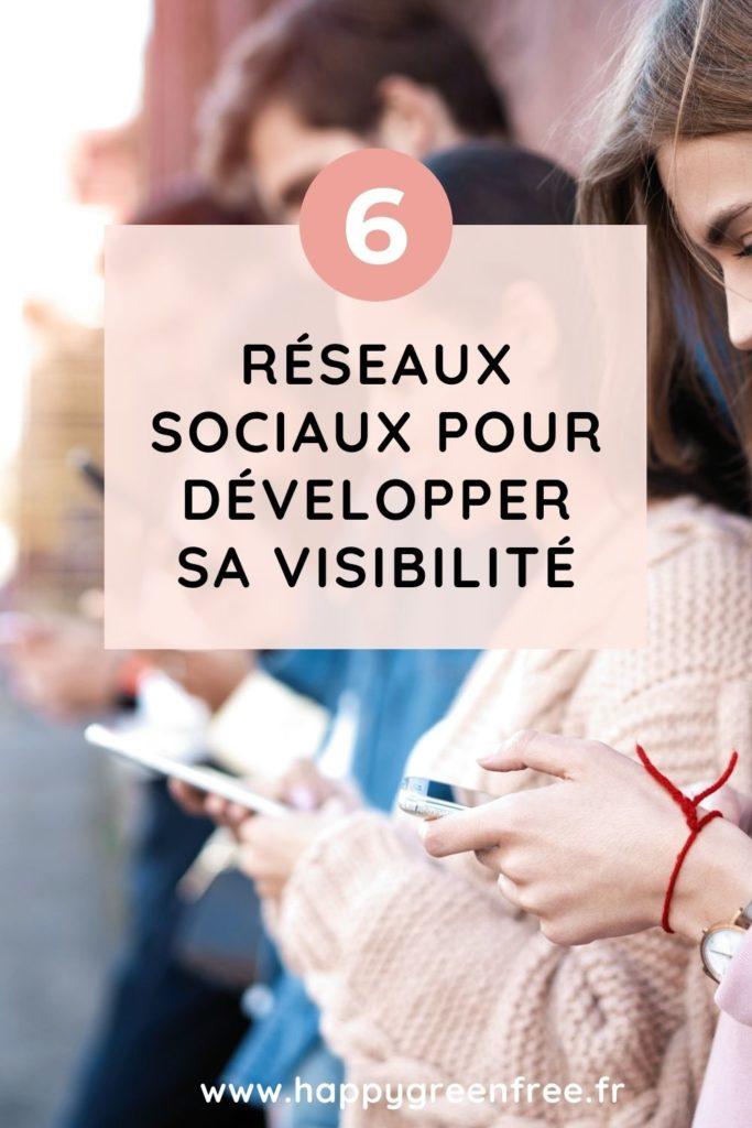 6 réseaux sociaux pour développer sa visibilité