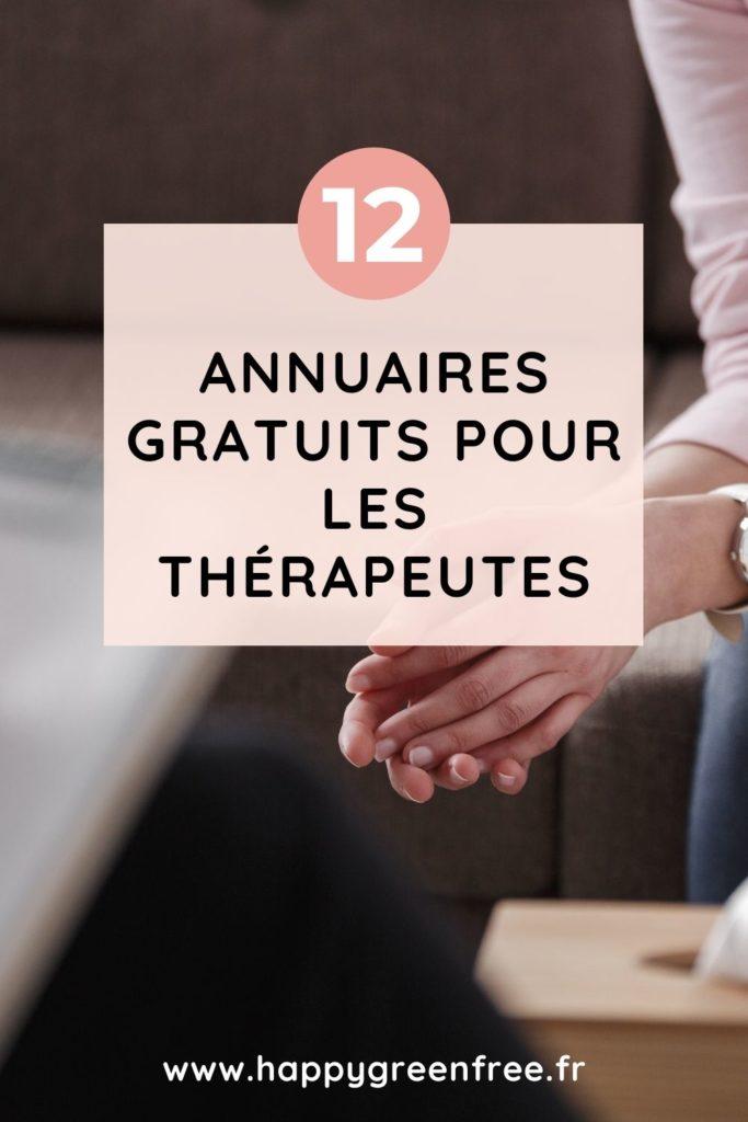 12 annuaires gratuits pour les thérapeutes